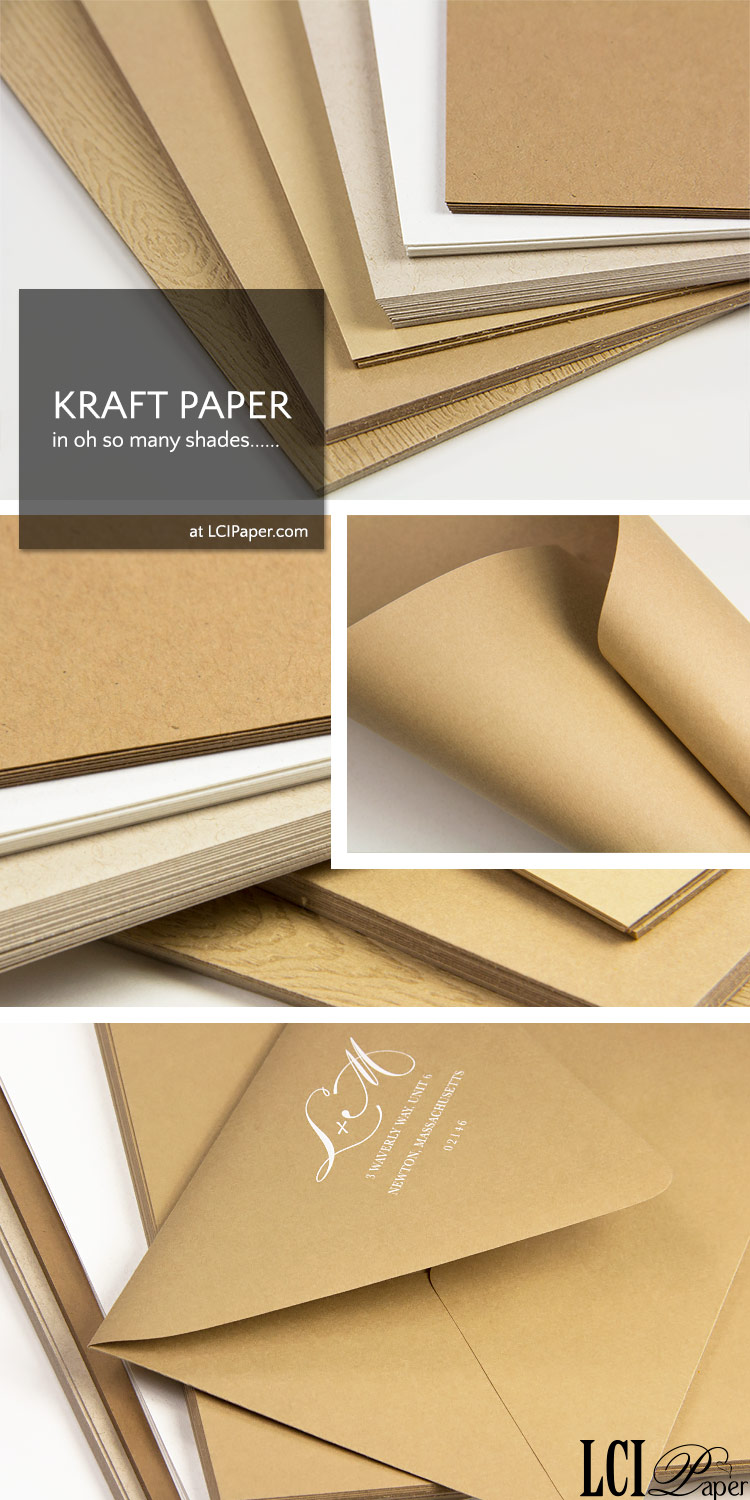 Kraft paper photo collage - order kraft paper in a variety of weights, colors, textures, finishes from LCIPaper.com