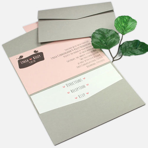 landscape pocket invitation