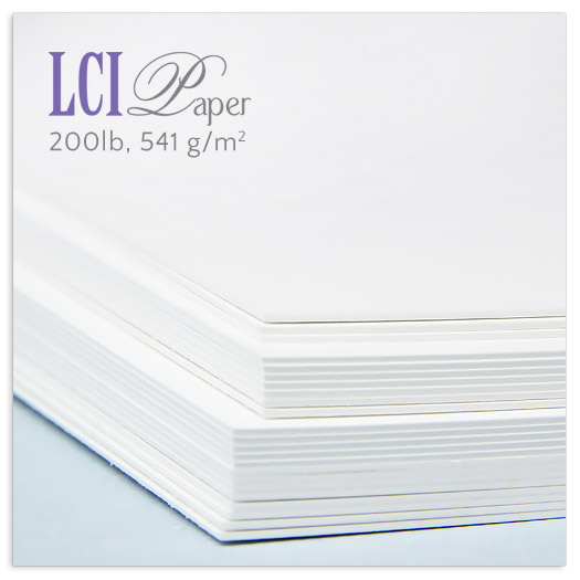LCI Brand radiant white 200lb double thick card stock