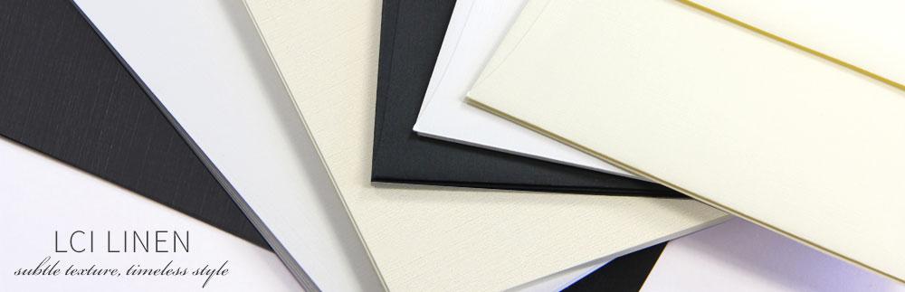 Linen texture paper from LCI