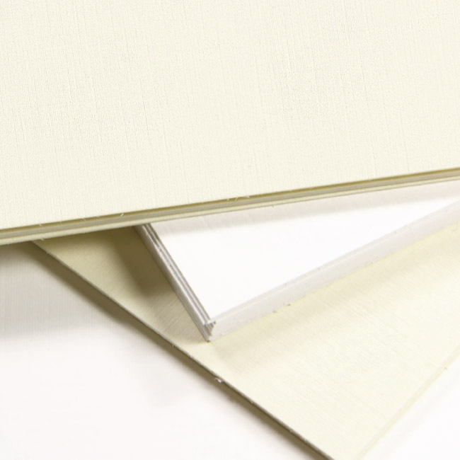 Traditional linen textured card stock in white and cream