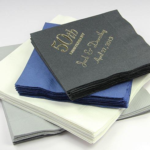 LCI Paper Personalized Anniversary Napkins.