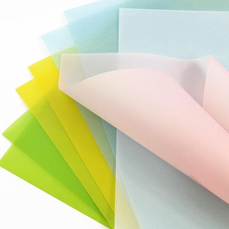 Lightweight translucent vellum paper for invitations. Light, thin vellum weight great for overlays, wraps, inserts