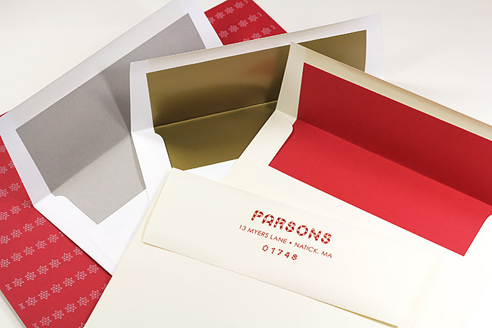 Holiday paper and envelopes