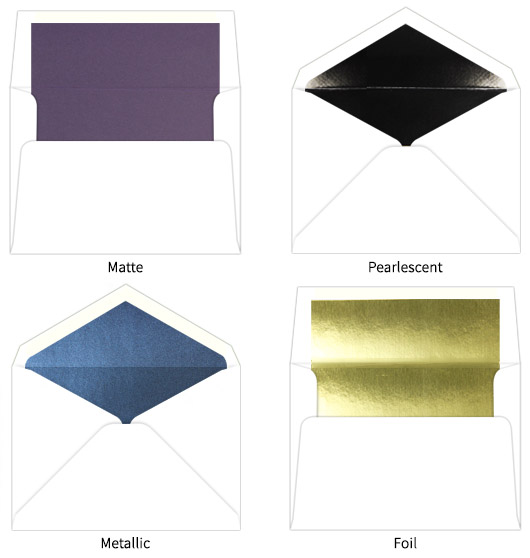 Types of lined envelopes at LCI Paper