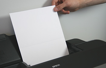 loading paper into printer