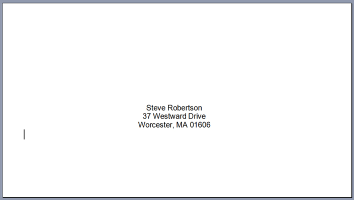Print Envelopes Using Microsoft Word Mail Merge | LCI Paper