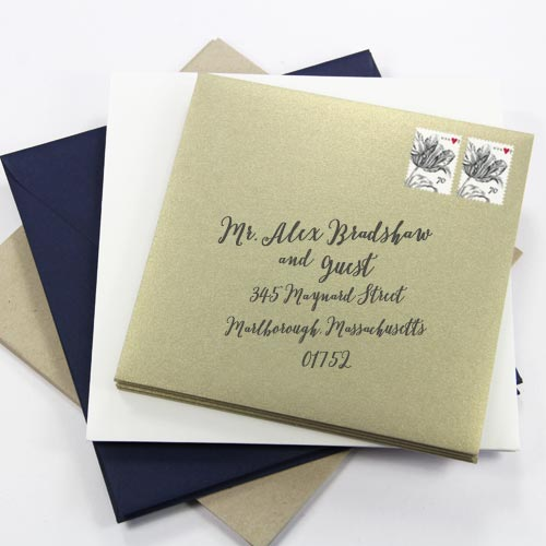 Square envelopes require additional postage