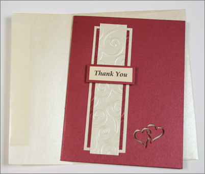 Sandie's Mars & Autumn Hay thank you card