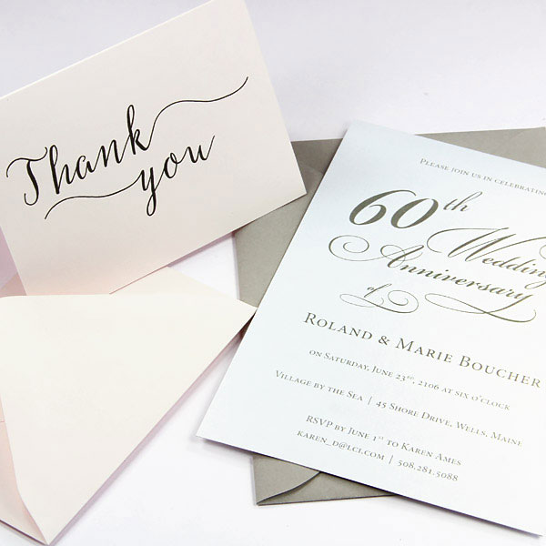 Thank you and invitation cards made with matching blank cards and envelopes from LCI Paper