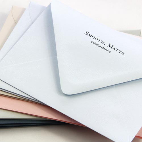 Order colorful, matte finish envelopes printed and addressed from LCI Paper