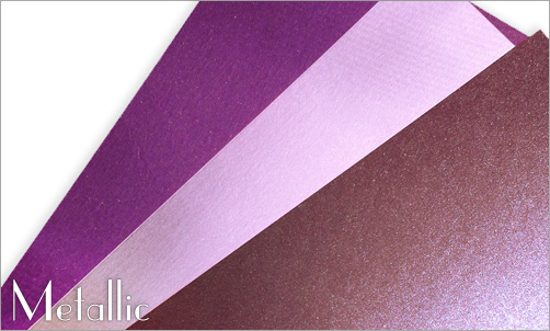 purple papers with metallic finish