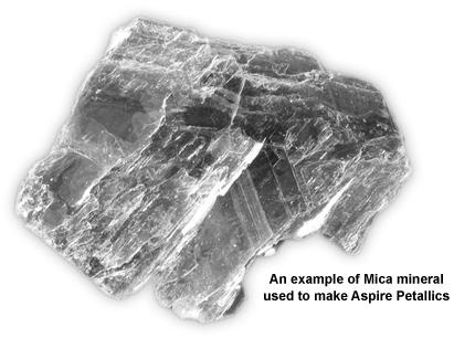 Mica mineral metallic paper