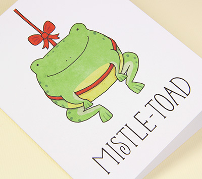 Mistle-toad card by Claire Lordon Designs