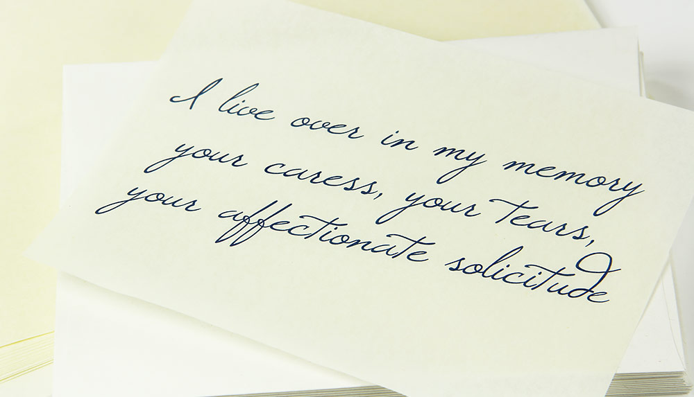 Napoleon Love Quote Printed On European Parchment Paper
