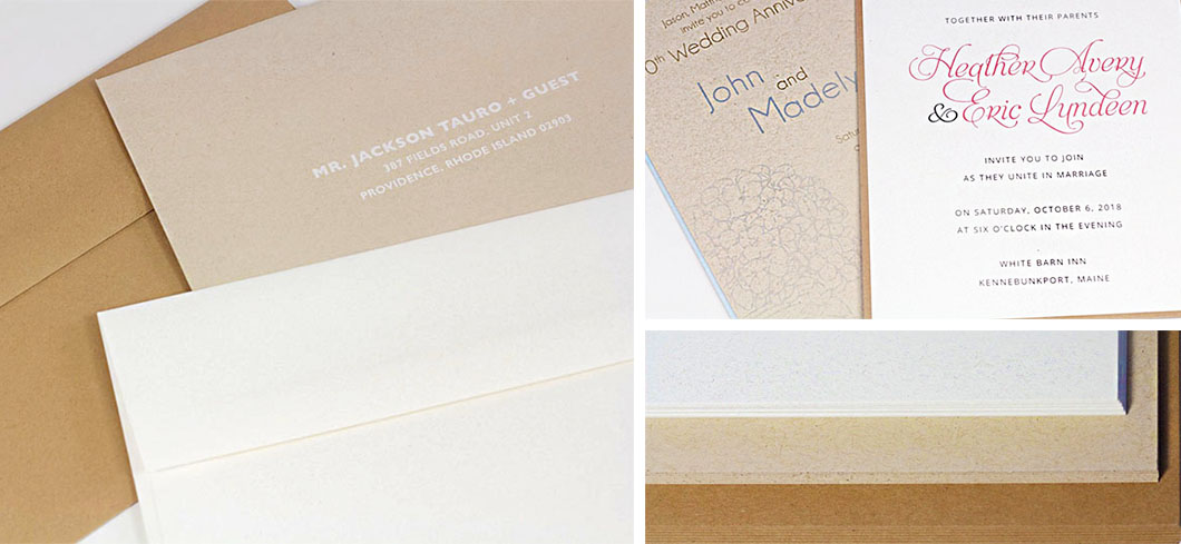 Neenah Environment Envelopes and Blank Cards. Kraft paper made from 30% recycled material.