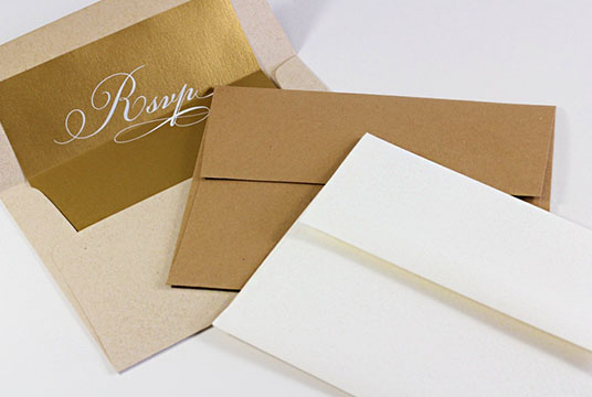 Neenah Environment Envelopes in Grocer Kraft, Moon Rock, and Desert Storm. Order blank or printed from LCIpaper.com.