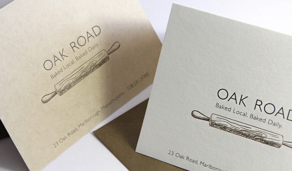 Local bakery branding made with No Color No Bleach organic card stock
