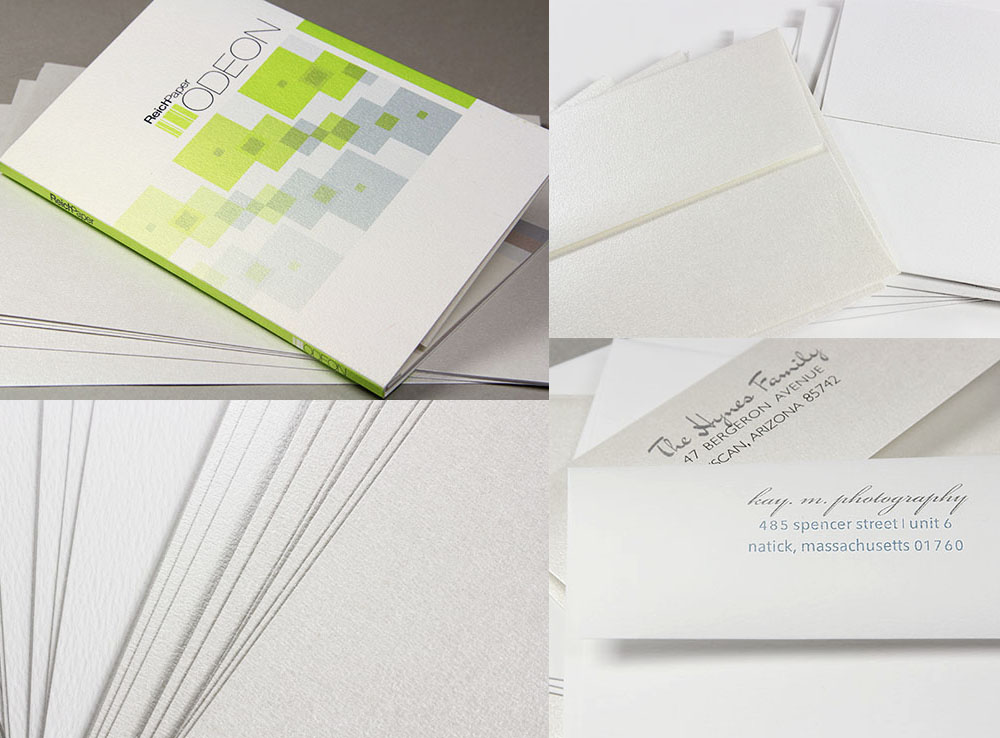 Odeon True Felt and Pearlized Felt available in card stock, papers, and envelopes in a variety of sizes.