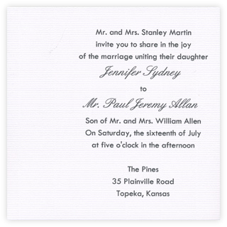 off center text printed card