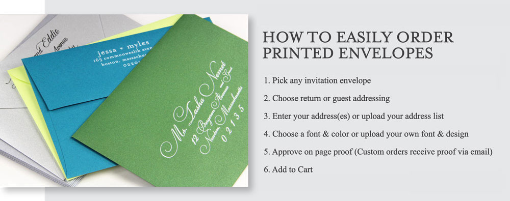 How to order printed envelopes from LCI Paper