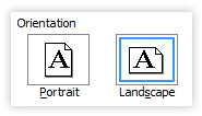PC Word landscape orientation