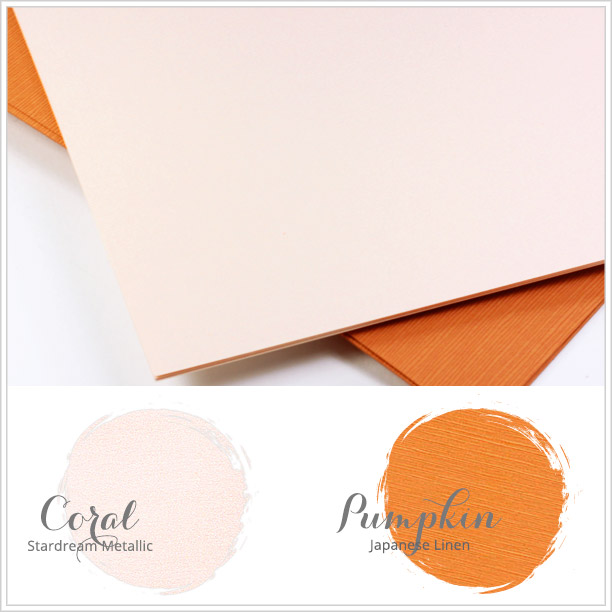 Complementary paper colors to Spring 2016 Pantone color Peach Echo