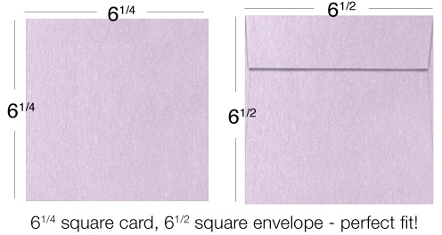 example of card and proper envelope size