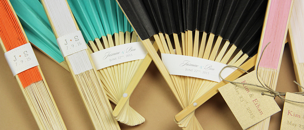 easy ways to decorate personalize wedding hand fans