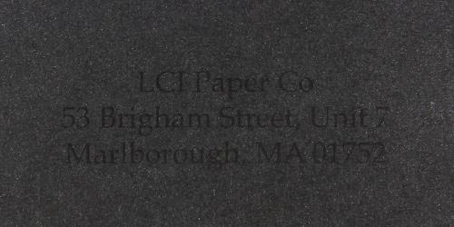 aspire petallics black ore sample printed envelope