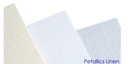 Aspire Petallics linen finish paper