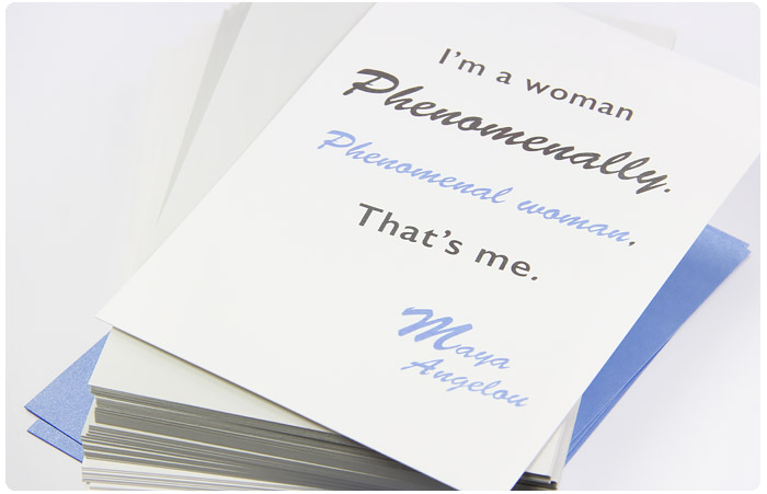 favorite quotes on luxe cotton paper i am a w phenomenally quote printed on cotton card stock