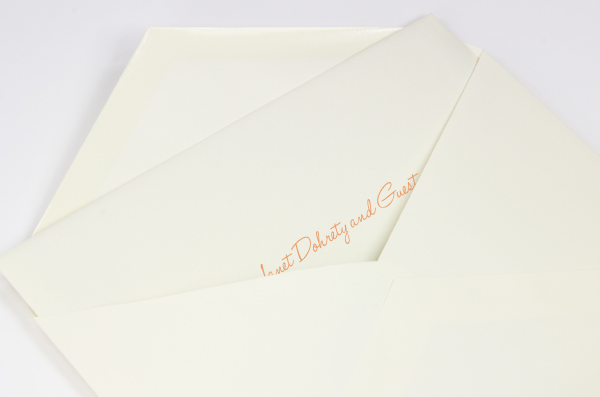 How To Assemble Wedding Invitations With Double Envelopes