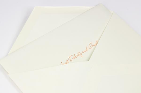 Informally addressed inner envelope inside of outer envelope