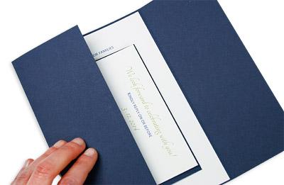 twine wrapped gate fold invitation