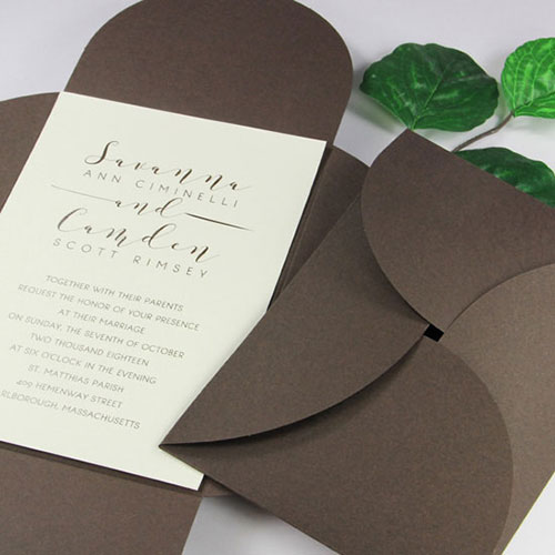 pochette invitation