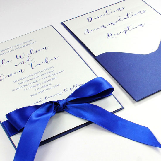Pocket Cards feature one pocket to hold a card or invitation ensemble. Call or shop online at LCIPaper.com