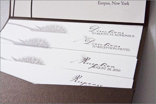 Pocket Fold InvitationFall Wedding Design – Pocket Cards for Invitations