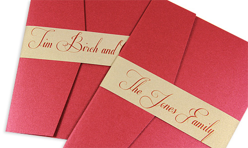 invitation pockets with addressed bands