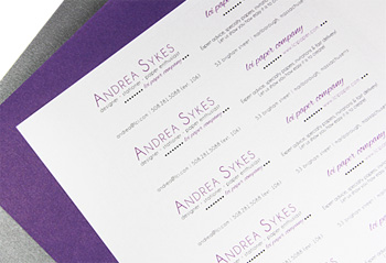 print business card strips