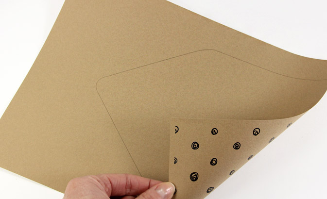 Print euro flap envelope liner outlines on plain or pattern paper and cut