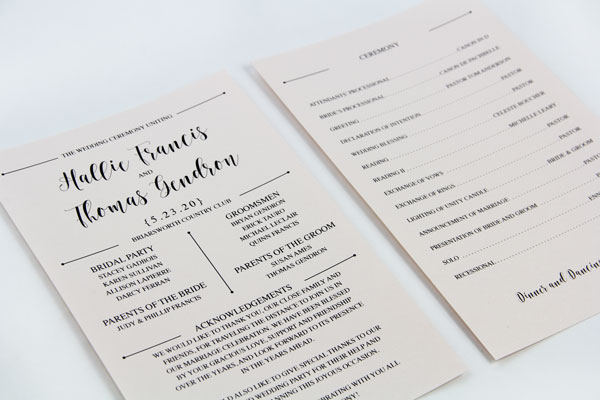 3 Steps To A Stylish Wedding Program Fan Lci Paper