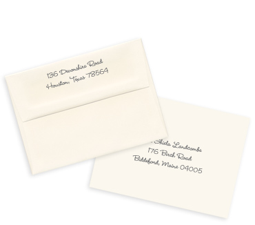 printed cream envelopes