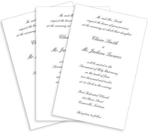 How to print blank invitations at home printed invitation card stopboris Choice Image