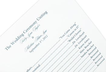 Make This Square Wedding Program Design With Ribbon | LCI Paper