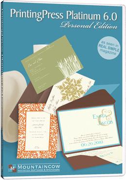 Printingpress software printing invitations at home printing press platinum 6 invitation software stopboris Image collections