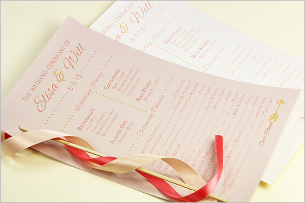 wedding ceremony programs stationery to design print make your own