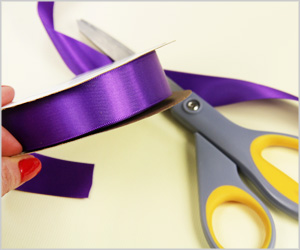 purple double face satin ribbon 7/8 inch