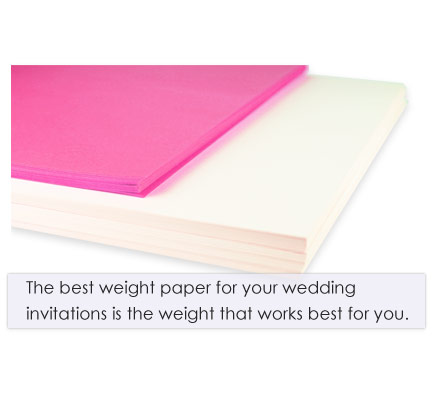 Quote - best weight invitation paper best for you