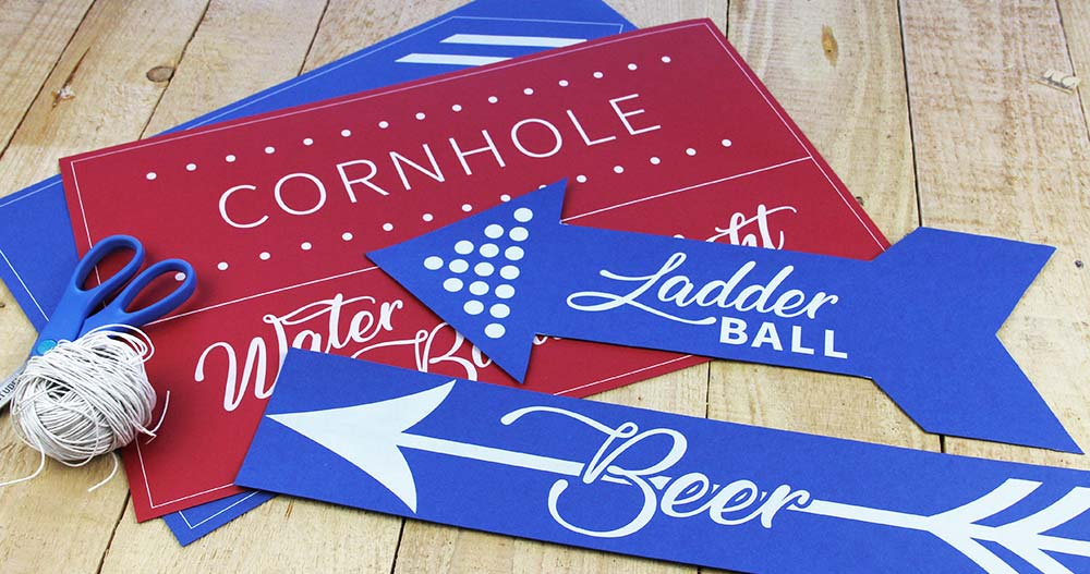 Custom signs printed in white by LCI Paper. Download and customize free template, choose from 100s of papers to print on.
